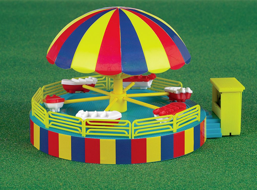 Operating Kiddie Boat Carnival Ride Kit (HO Scale)