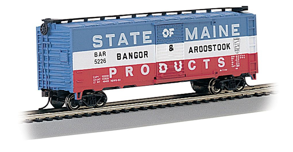 Bangor & Aroostook - 40' Box Car (HO Scale)