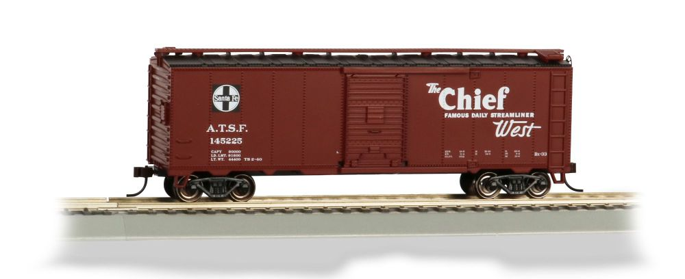 Chief 40' Santa Fe Map Box Car (HO Scale)