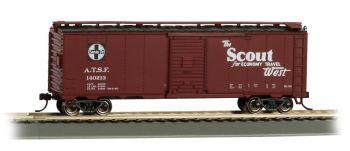 Scout 40' Santa Fe Map Box Car (HO Scale)