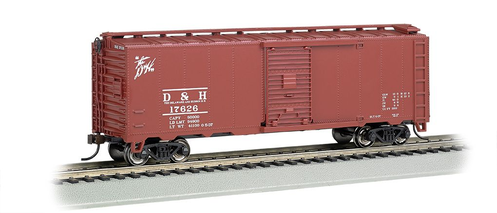 Delaware & Hudson - Steam Era 40' Box Car (HO Scale)