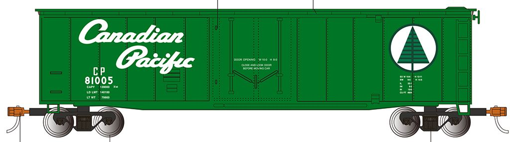 Canadian Pacific - 50' Plug Door Box Car (HO Scale)
