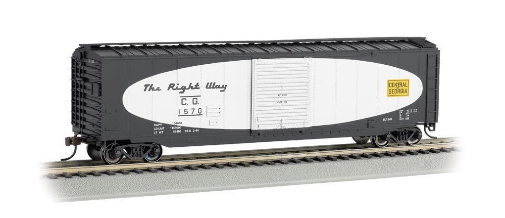 Central of Georgia(football scheme)-50' Sliding Door Box Car(HO Scale)