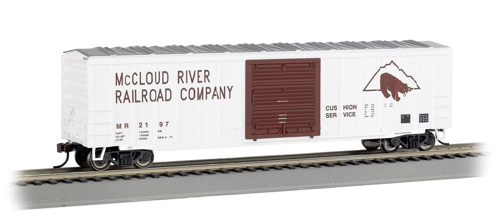 Mccloud River - ACF 50.5' Outside Braced Box Car (HO Scale)
