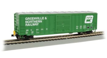 50' Outside Braced Box Car with FRED - Greenville & Northern