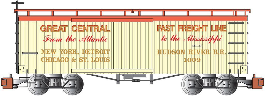 NYC & Hudson Railroad - Old-time Box Car
