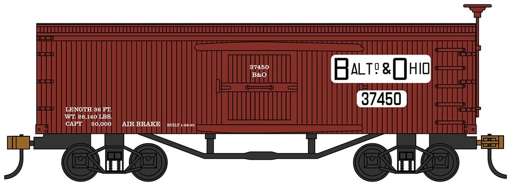 Baltimore & Ohio ® Fruit Car - Old-time Box Car