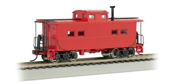 Painted, Unlettered, Red - NE Steel Caboose (HO Scale)