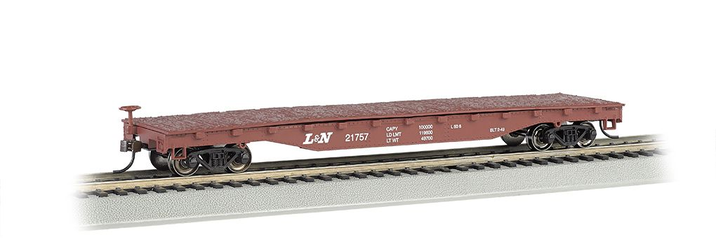 Louisville & Nashville® - 52' Flat Car (HO Scale)