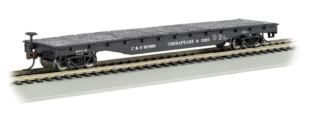 Chesapeake & Ohio® - 52' Flat Car (HO Scale)