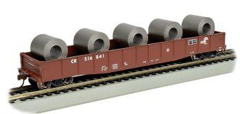 "CONRAIL - 50'6"" Drop End Gondola w/Steel Coil Load"