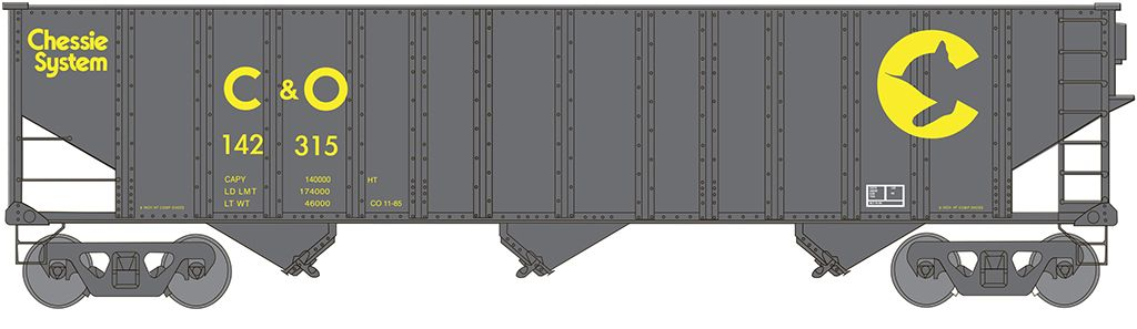 Chessie System (C&O®) #142315 - Beth Steel 100 Ton 3 Bay Hopper