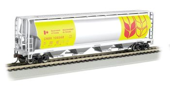 Government of Canada - Yellow - 4 Bay Cylindrical Grain Hopper