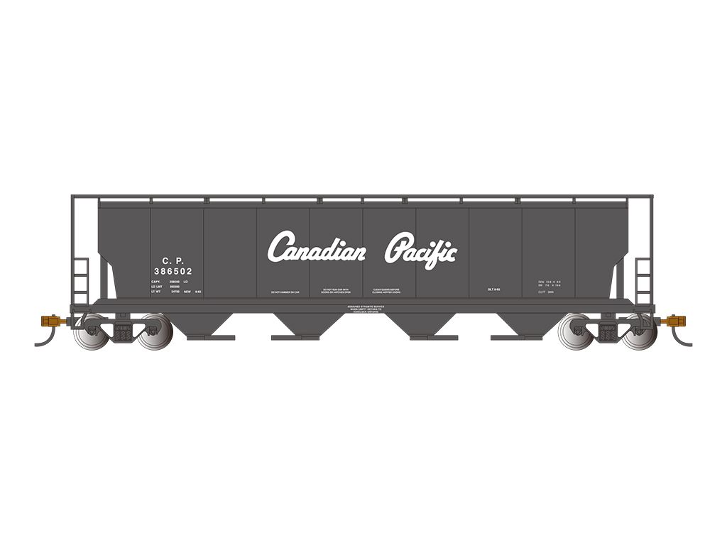 Canadian Pacific - Cylindrical Grain Hopper w/FRED