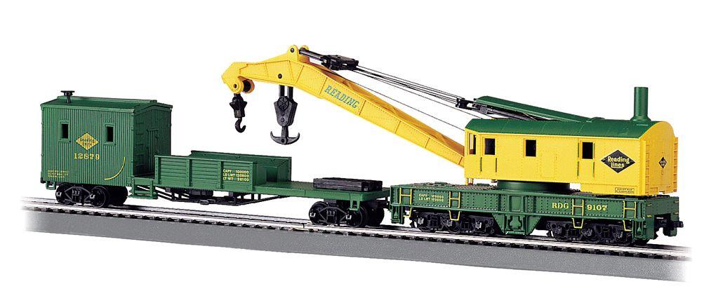 Reading - 250-Ton Steam Crane & Boom Tender (HO Scale)