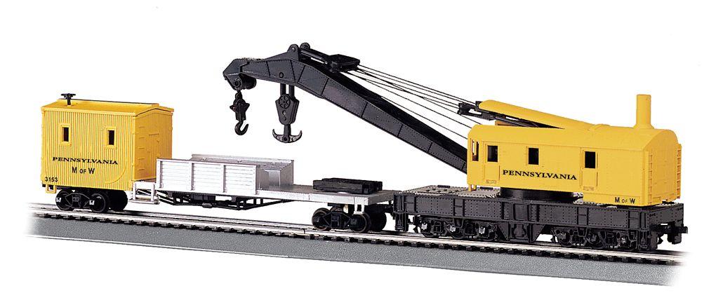 Pennsylvania - 250-Ton Steam Crane & Boom Tender (HO Scale)