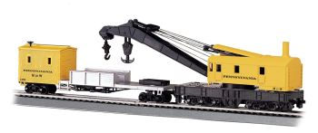 Pennsylvania - 250-Ton Steam Crane & Boom Tender (HO Scale)