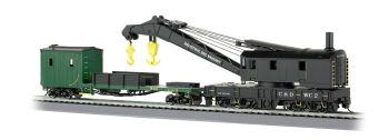 Chesapeake & Ohio - 250-Ton Steam Crane & Boom Tender(HO Scale)