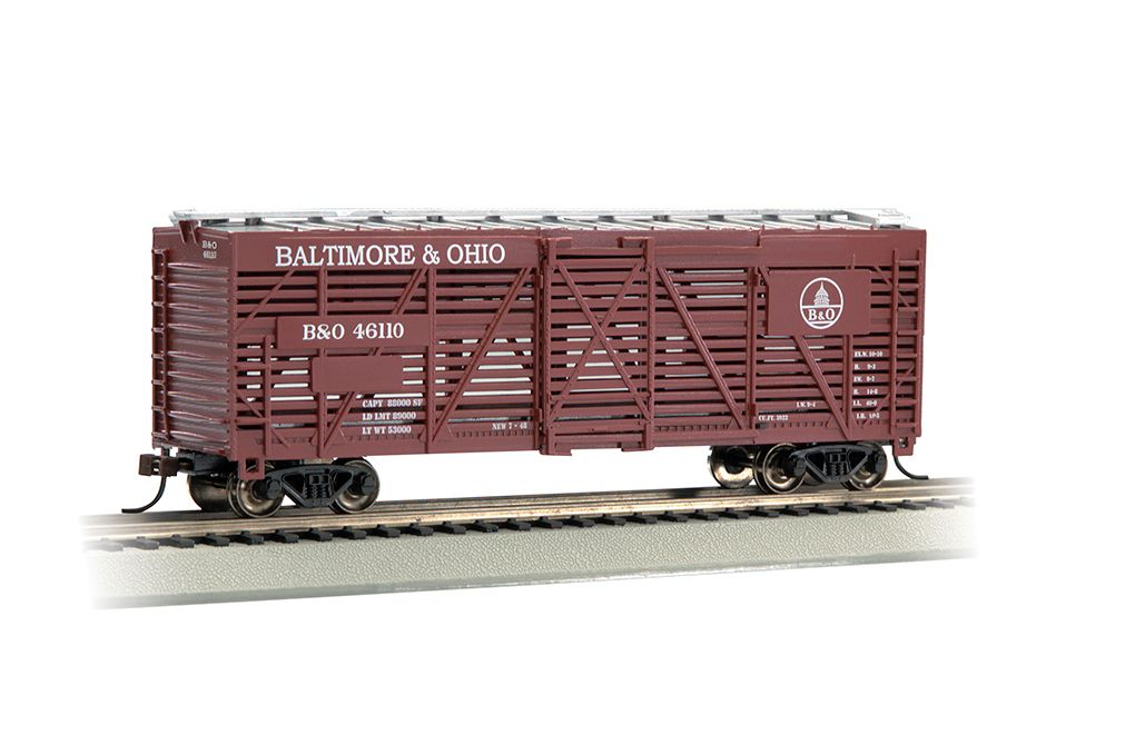Baltimore & Ohio® - 40' Stock Car (HO Scale)