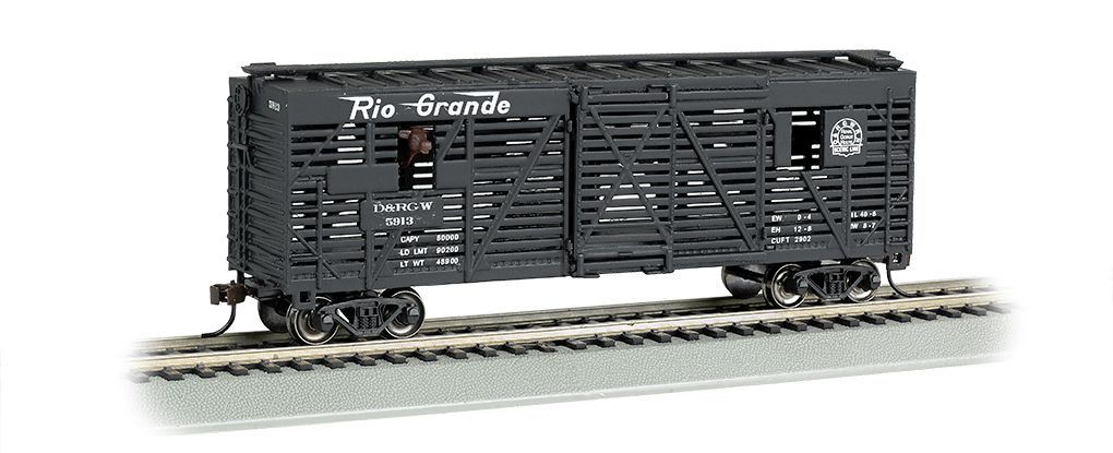 D&RGW™ - 40ft Animated Stock Car w/ Cows (HO Scale)