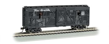 D&RGW - 40ft Animated Stock Car w/ Cows (HO Scale)