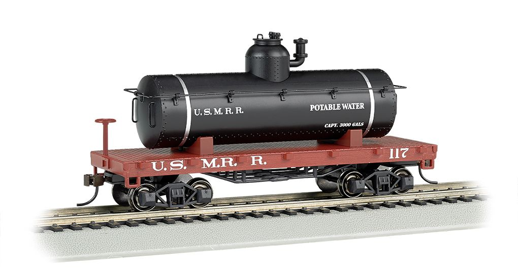 US Military Railroad - Old-Time Tank Car (HO Scale)