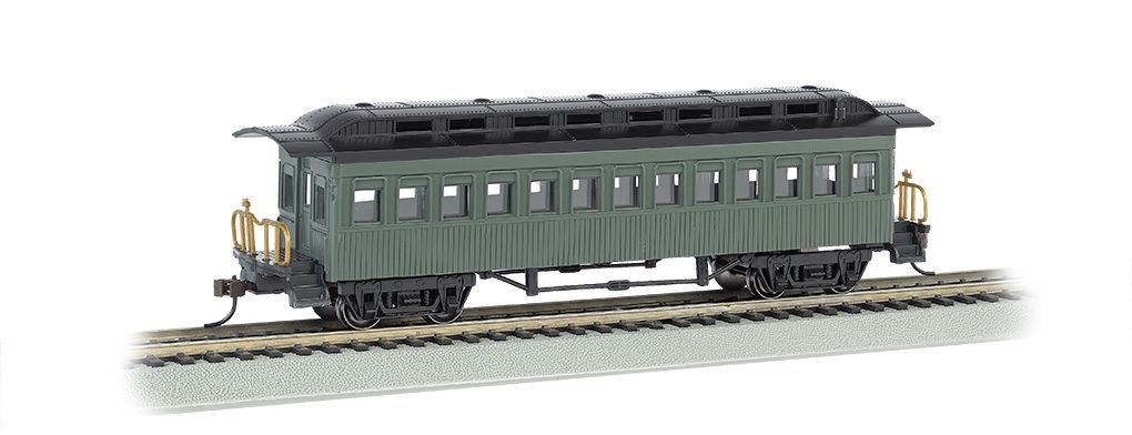 Coach (1860-80 era) - Painted Unlettered Green (HO Scale)