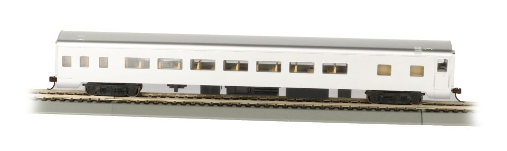 Unlettered, Aluminum Smooth-Side Coach w/ Lighted Interior (HO)