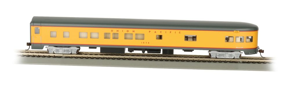 Union Paciific® Smooth-Side Observation Car w/ Lighted Intr (HO)