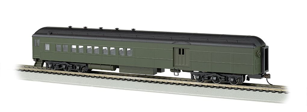 Painted Unlettered Pullman Green - 72' Heavyweight Combine (HO)