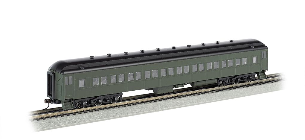 Painted Unlettered - Pullman Green - 72' Coach (HO Scale)