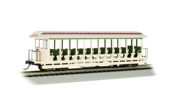 Amusemnt Pk - Cream/Grn - Jackson Sharp Open-Sided Excursion Car