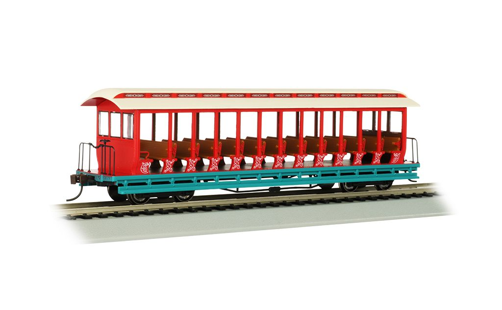 Amusemnt Pk - Cream/Red/Aqua  - Jackson Sharp Open-Sided Excursion Car