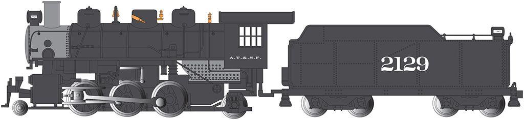 Santa Fe #2129 - Prairie 2-6-2 & Tender (N Scale)