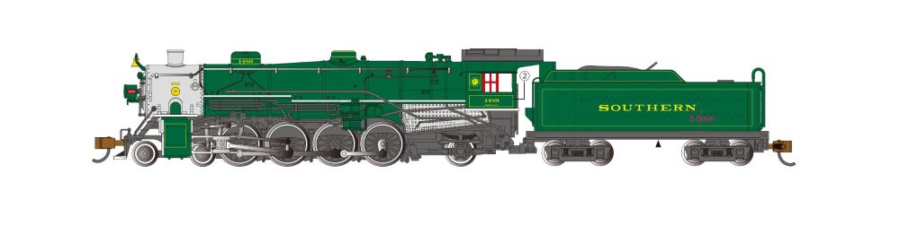 Southern #1489 - 4-8-2 Light Mountain - DCC Sound Value