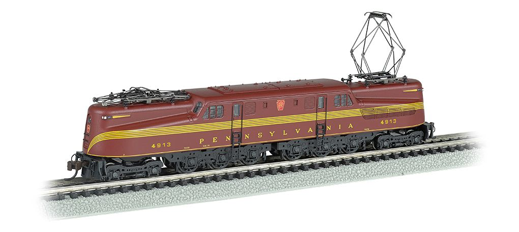 PRR GG-1 #4913 – Tuscan Red 5 Stripe DCC Sound (N Scale)