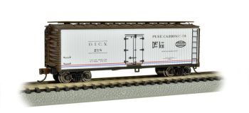 Pure Carbonic Company-40' Wood-side Refrigerated Box Car