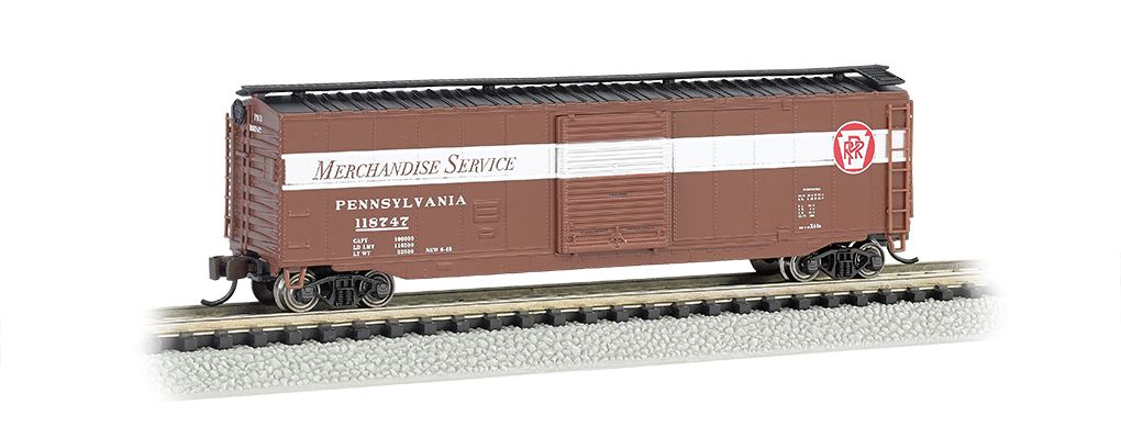 Pennsylvania Merchandise Service - 50' Sliding Door Box Car