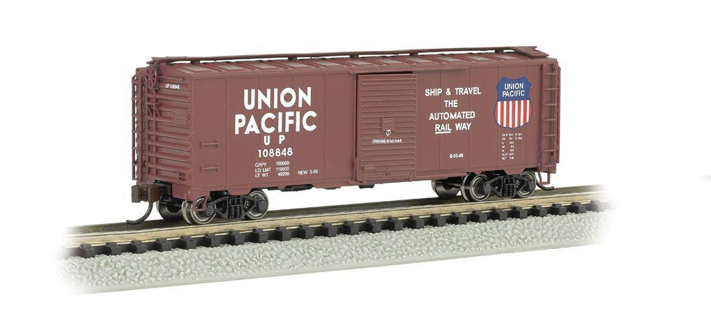 UP - Automated Railway (Brown) - AAR 40' Steel Box Car