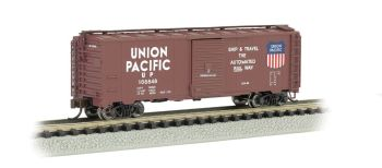 UP - Automated Railway (Brown) - AAR 40' Steel Box Car