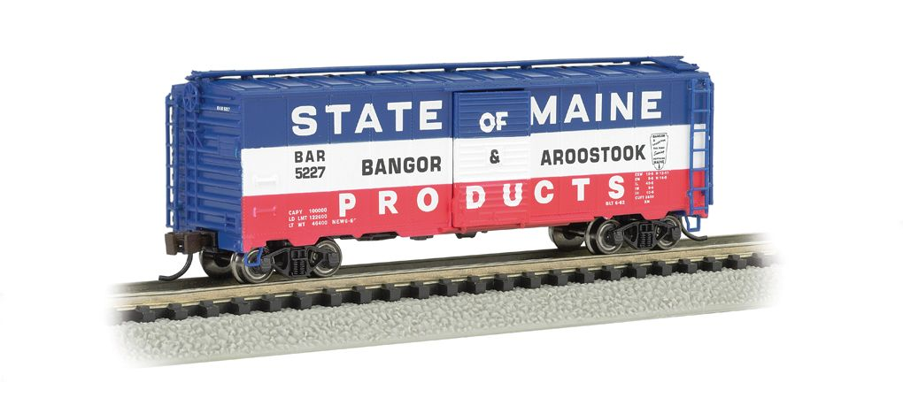 Bangor & Aroostook (Red, White & Blue) - AAR 40' Steel Box Car
