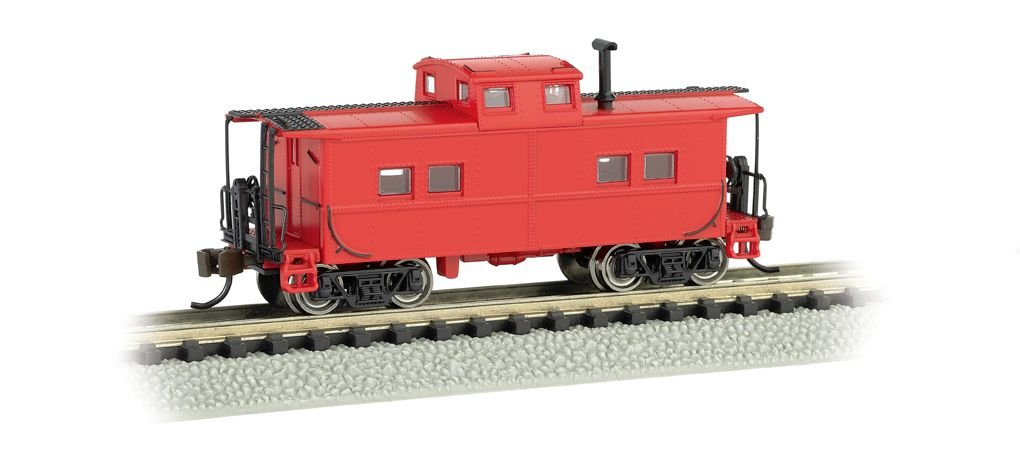 Painted, Unlettered - Caboose Red - NE Steel Caboose