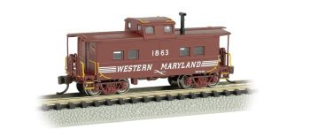 Western Maryland #1863 (Speed Lettering) - NE Steel Caboose