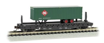 B&O 52ft flat car w/Railway Express Agency 35ft Trailer
