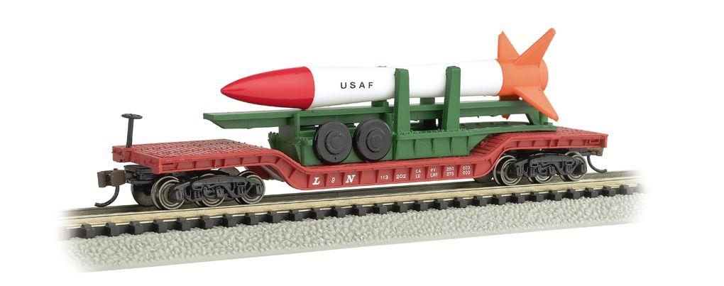 52' Center-Depressed Flat Car w/ Missile
