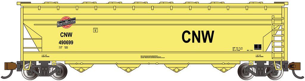 CNW™- ACF 56' 4-Bay Center Flow Hopper