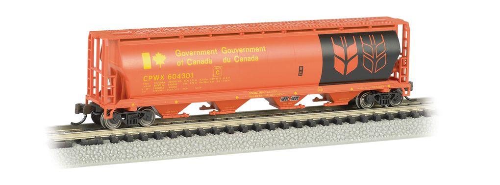 Gov. Of Canada - Red - 4 Bay Cylindrical Grain Hopper