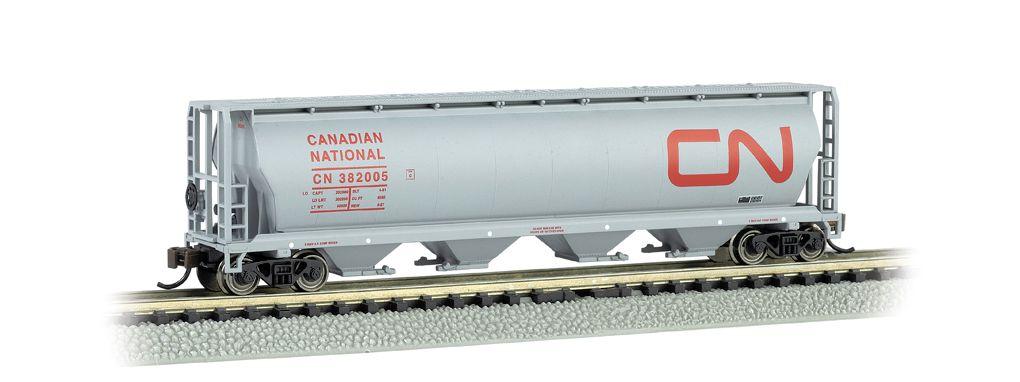 Canadian National - 4 Bay Cylindrical Grain Hopper