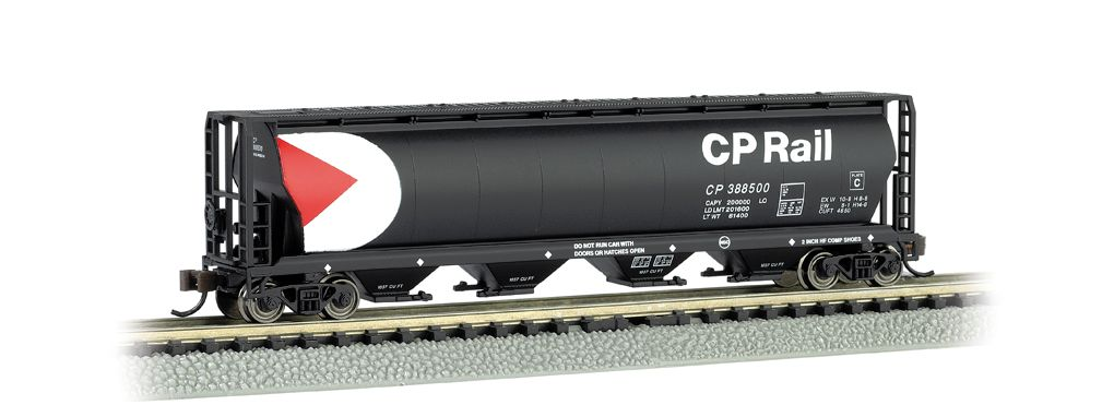 CP Rail - 4 Bay Cylindrical Grain Hopper
