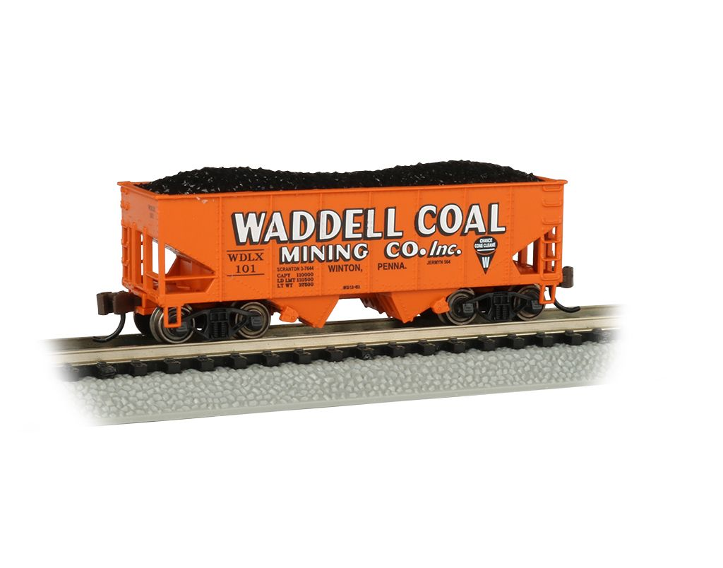 Waddell Coal #101 - USRA 55 Ton 2-Bay Hopper